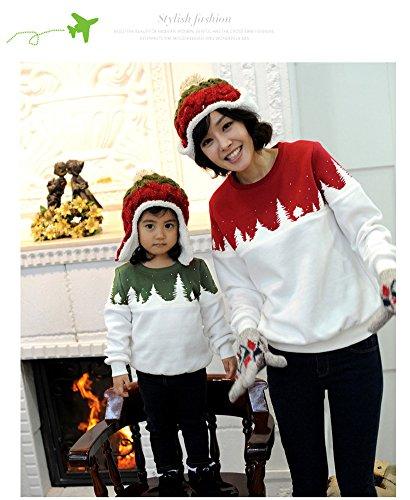 Unisexe Femme Homme Enfant Hiver Sweat Shirt Pull Manches Longues Hoodie Col Rond Noël Ensemble Vêtements De Famille Velours