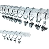 Pack of 20 Anillos De Cortina Y Clips LMYTech Cortina Anillos 38 mm De Diámetro Interior De Acero Inoxidable Premium Metal Material-Silver