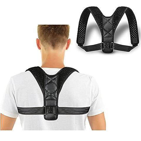 Rücken Schulter Haltung Corrector Brace Clavicle Stützklamme- Obere Rücken Stützmütze zum Schulter Relief Haltung Rückenschmerzen, Perfekt für Männer und Frauen