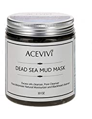 ACEVIVI Natural Dead Sea Mud Facial Mask - Anti-Ageing Treatment For All Skin Types - For Women, Men and Teens - Effective Relief From Acne,