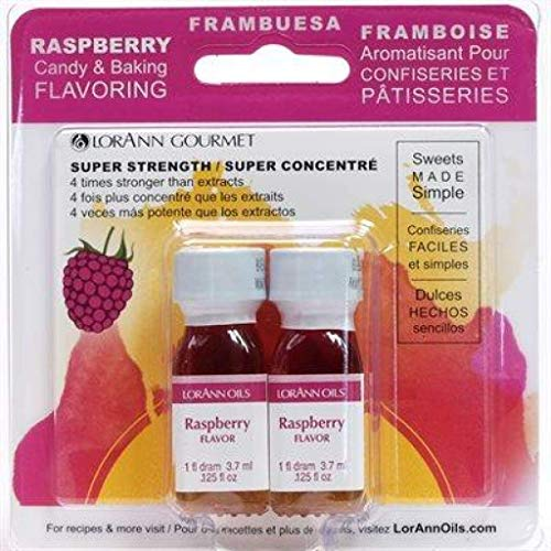 LorAnn Candy & Baking Flavoring .125oz 2/Pkg-Raspberry - 4 Unzen-raspberry
