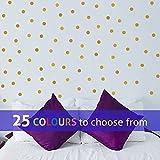 TopZog Set van 80 POLKA DOTS, muursticker sticker, 1 in confetti stippen, vlekken, voor babyjongens, meisjes kinderdagverblijf, schoonheidssalon, GOLD (METALLIC), 1 inch (2,5 cm) elk