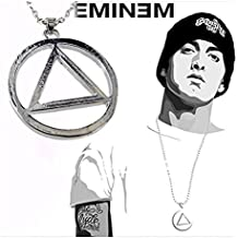 DP DESIGN® COLLANA CATENA EMINEM RAPPER LOVE SIMBOLO CIONDOLO PENDENTE
