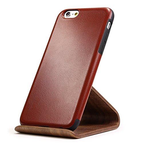 URCOVER Coque de Protection Ultra Mince Apple iPhone 6 6s Plus | Cover Back Case Rigide Élégante en Rose | Housse Arrìere Bumper Antichoc Édition Élégance Marron