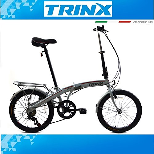 Klapprad Fahrrad KLAPPFAHRRAD 20 Zoll TRINX Faltrad SHIMANO 7.Gang Weiß Cityrad