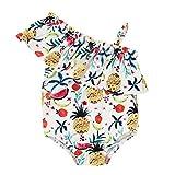 FANS Costume da bagno intero da bambina per bebè Costume da bagno Costumi da bagno Tutina pagliaccetto Bikini 0-4 anni (6-12 Mesi, Beige)