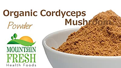 Organic Cordyceps Mushroom Powder - Superfood Supplement 25g FREE UK Delivery by MountainFresh