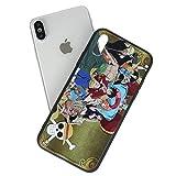 CoolChange Custodia di One Piece in PVC per Apple iPhone XS & XS Max, Motivo: Equipaggio Cappelli di Paglia