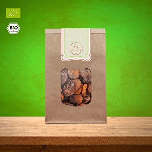 süssundclever.de Bio Aprikosen, getrocknet | 1 kg | ungezuckert und ungeschwefelt | Demeter-Qualität | plastikfrei und ökologisch-nachhaltig abgepackt | 100% naturbelassen