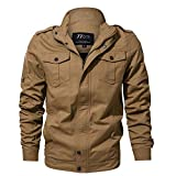 Honestyi Herren Herbst Winter Casual Langarm Solid Button Tooling Jacke Top Bluse(Schwarz,Grün,Khaki,M/6XL)