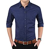 #10: Romano Men's Full Sleeve Casual Blue Shirt