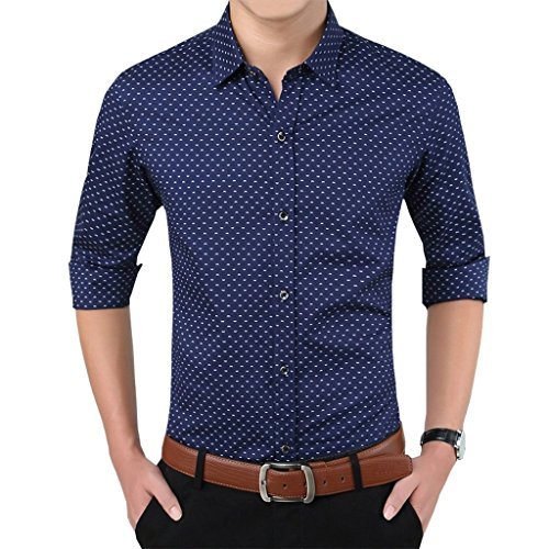 Romano-Mens-Full-Sleeve-Casual-Blue-Shirt