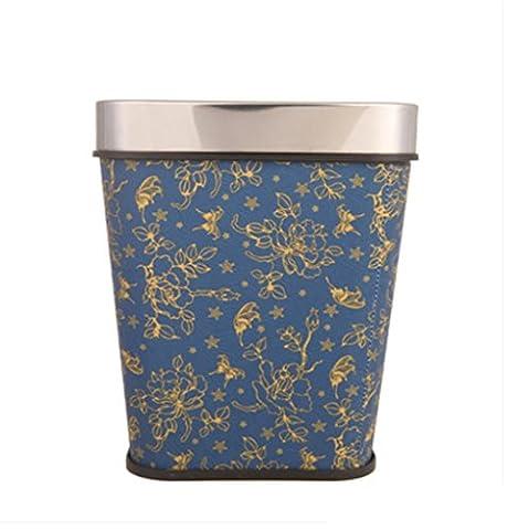 FYN® Poubelles cuisine salon cuisinière poubelle ménage rond barils plastique grande poubelle liquides 23 * 32cm blue
