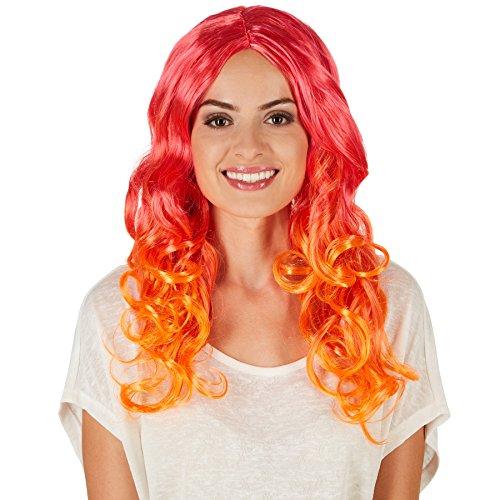 TecTake dressforfun Parrucca da Donna - Fashion Pastel | Capigliatura Finta Extra Lunga | Fantastiche Sfumature di Colore