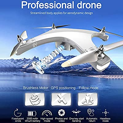 Singular-Point Tongli T1 RC Drone with 1080P HD Camera,Aerial Professional Large Outdoor Remote Control Quadcopter,LED Navigation Lights,128° Wide-Angle Lens
