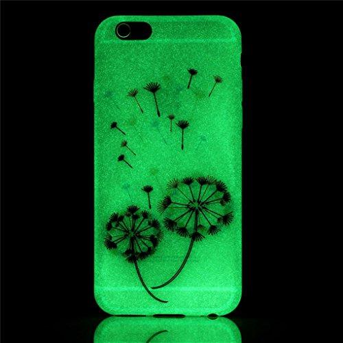 6 6S Hülle, iPhone 6 6S Hülle, SATURCASE Schönes Muster Leuchtend Fluoreszierend Ultra Dünn Weich TPU Gel Silikon Schützend Zurück Case Cover Handy Tasche Schutzhülle Handyhülle Hülle für Apple iPhone Muster-14