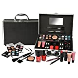 Urban Beauty 33 Piece Black Vanity Make up / Cosmetic Case by E Bargains UK
