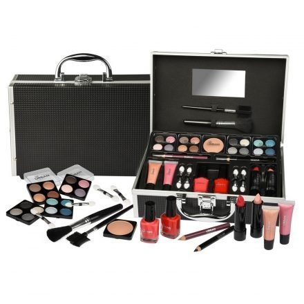 Vanity Case Cosmetic Urban Beauty Box Travel Make Up Train Storage 59 Piece Set