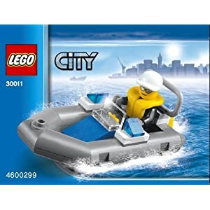 LEGO City: Polizia Barca Dinghy Set 30011 (Insaccato) 5702014725980 LEGO