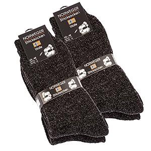 4 pairs of very thick & warm wool socks, norwegian winter socks