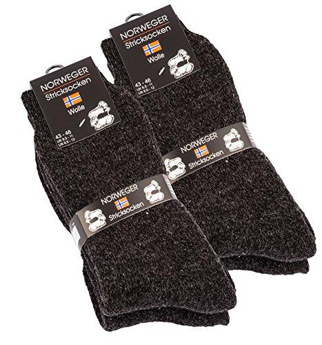4 pares de gruesa y cálida lana calcetines