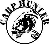 Shirtstown sticker de voiture, Carp Hunter pêche carpe pêcheur, fischer, pêcheur 40cmx36cm naranja pastel