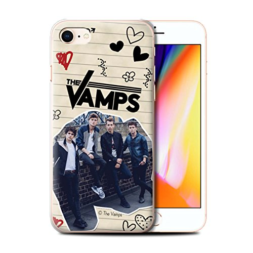 Officiel The Vamps Coque / Etui pour Apple iPhone 8 / Stylo Noir Design / The Vamps Livre Doodle Collection Stylo Noir