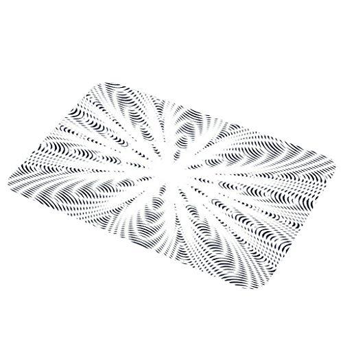Youdong Tapis de Bain Absorbant Antidérapant Tapis de Douche Microfibre pour Salle de Bain apis Antidérapant Absorbant Paillasson La géométrie Ligne Flanelle Tapis antidérapant 40X60cm