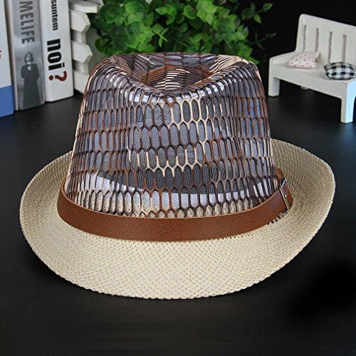 La Vogue Chapeau Panama Paille Fedora Trilby Soleil Femme Homme Casual Café