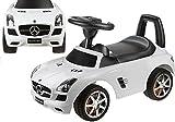 Rutschauto Mercedes-Benz SLS AMG Lizenz Rutscher Kinderauto Rutschfahrzeug (weiß)