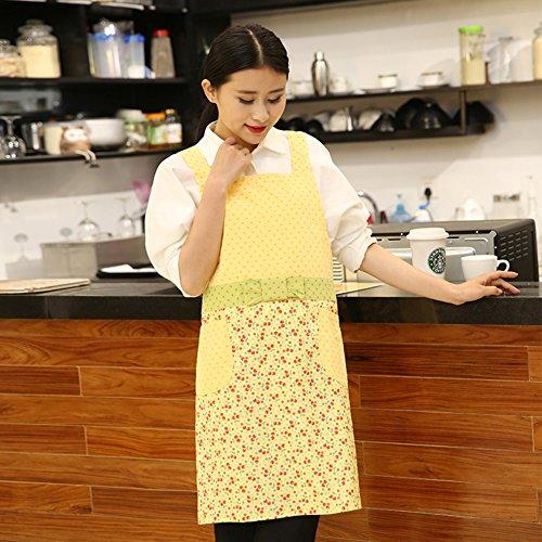 GXX Anti-olio impermeabile grembiuli adulti in cucina/ abiti da lavoro/ Cook indossare abiti-B