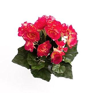 artplants.de Begonia Artificial con 27 Hojas, 9 Flores, Fucsia, 20cm, Ø 20cm – Planta Decorativa – Flores Artificiales