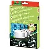 raid lanterne recharge anti moustiques usage exterieur 3 bougies 3 plaquettes fr