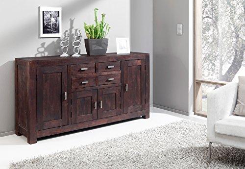 SAM® Kommode Timber 6649 aus Akazienholz, Sideboard tabakfarben, massiv, 4 Schubladen, 4 Holztüren, viel Stauraum