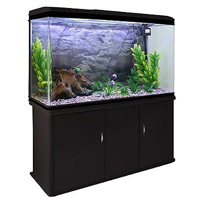 monstershop Fish Tank Aquarium démarrage & accessoires, noir Meuble Gravier naturel, plantes, 300L 4m