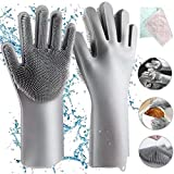 Aiglam Silicone Gloves, Magic Gloves Cleaning Silicone Washing Gloves Reusable Dishwasher Gloves, Rubber Glove for Household Washing, Car Washing, Heat Resistant