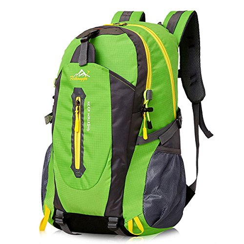 40L Lightweight Hiking Backpack, NATUCE Multi-Functional Waterproof Casual Camping Daypack for Outdoor Sport Climbing Mountaineer 52 x 33 x 16 cm - Green