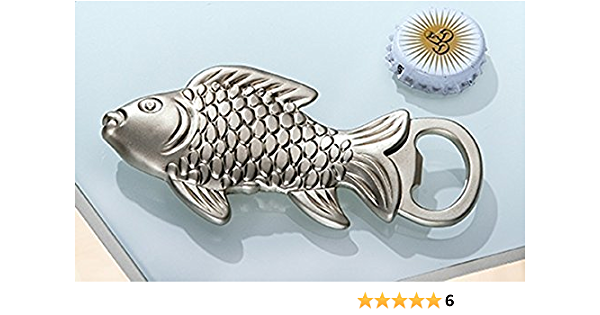 Silber 13cm 2x Metall Flaschenöffner Weinöffner Bieröffner Fisch Förmig