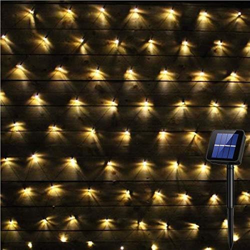 Net Mesh String Lights, 200Led Hinterhof-Patio-Netz-Licht-Balkon-Zaun-Ineinander greifen-feenhafte helle Schnur im Freien Imprägniern 3mx2m 8 Modi Außerhalb des Garten-Lichtes, Wand-Dach-Vorhang-Dekor - Mesh-dach