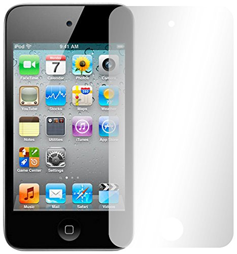 Slabo 2 x Displayschutzfolie kompatibel mit iPod Touch 4G | Touch 4 Displayschutz Schutzfolie Folie Crystal Clear unsichtbar Apple iPod Touch 4 MADE IN GERMANY - Apple Ipod Touch 4