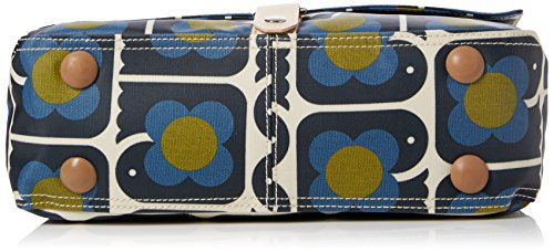 Orla Kiely Love Birds Print Satchel, Sacoche Bleu Marine