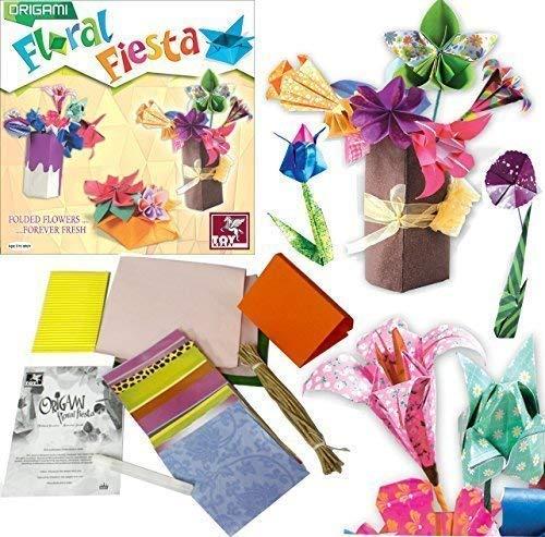 Toykraft Blumen Fest Strauss Papier Origami Kunst & Basteln Set