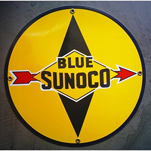 inconnu-plaque-emaillee-blue-sunoco-jaune-ronde-tole-email-deco-usa