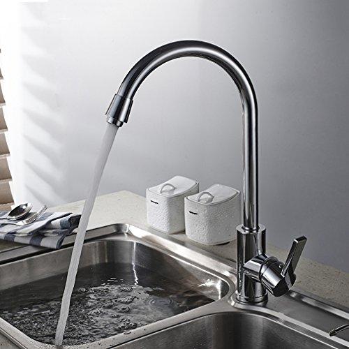 Auralum-Grifo-Cocina-con-Aireadores-Latn-Cromado-Caliente-y-fra-de-agua-Alternativa