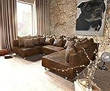 DELIFE Couch Clovis Modular - Ecksofa, Sofa, Wohnlandschaft & Modulsofa (Braun, Sofa)