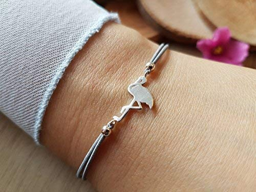 Flamingo-Twistarmband 925 silber