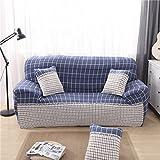 D DOLITY Moderne Stretch Sofahusse Sofabezug Sofabezüge Universal Stretchhussen für 1-3er Sitzer Sofa - Grau Plaid, 190-230cm