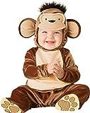 Generique - Affen-Kostüm für Babys aus Samt braun-beige 50/68 (0-6 Monate)
