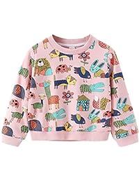 K-youth Sudadera para Niñas Niños Ropa Bebé Niña Impresión de Dibujos Animados Sudadera Niños Sweat Shirt Ropa Bebe Niña Otoño Invierno Blusas Bebe Niño Tops