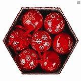 Wunderschöne Christbaumkugeln in einer weihnachtlichen Geschenkbox - 14 Kugeln im Set (Schneeflocken)